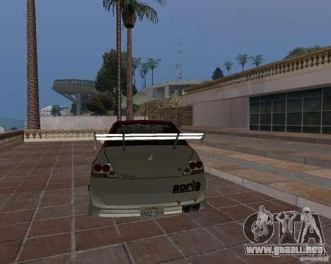 Mitsubishi Lancer Evolution VIII para la vista superior GTA San Andreas