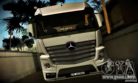 Mercedes-Benz Actros 2012 para GTA San Andreas vista hacia atrás