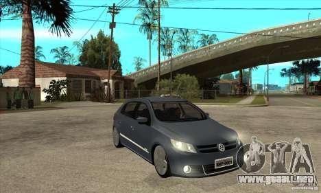 Volkswagen Gol G5 para GTA San Andreas vista hacia atrás