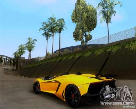 Lamborghini Aventador J TT Black Revel para GTA San Andreas vista hacia atrás