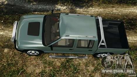 Chevrolet S-10 Colinas Cabine Dupla para GTA 4 visión correcta