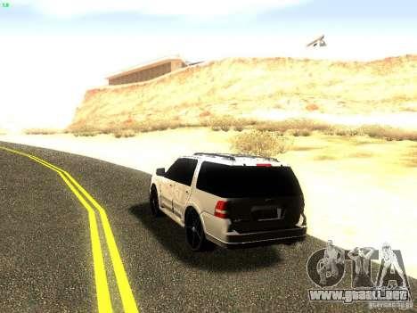 Ford Expedition 2008 para GTA San Andreas vista hacia atrás