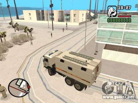 KAMAZ MES versión 2 para GTA San Andreas vista posterior izquierda