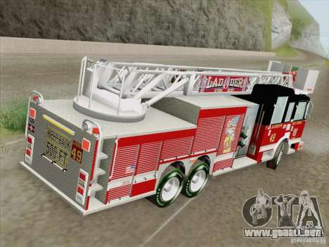 Pierce Rear Mount SFFD Ladder 49 para el motor de GTA San Andreas