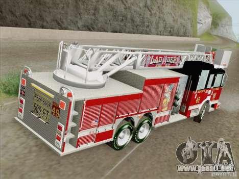 Pierce Rear Mount SFFD Ladder 49 para el motor de GTA San Andreas