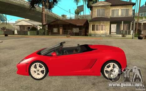 Lamborghini Gallardo LP560 Spider para GTA San Andreas left