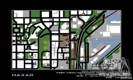 Guerra del aire para GTA San Andreas octavo de pantalla