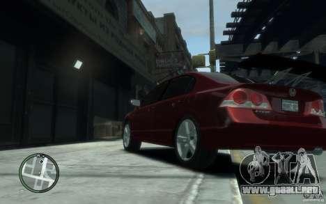 Honda Civic 2006 para GTA 4 Vista posterior izquierda