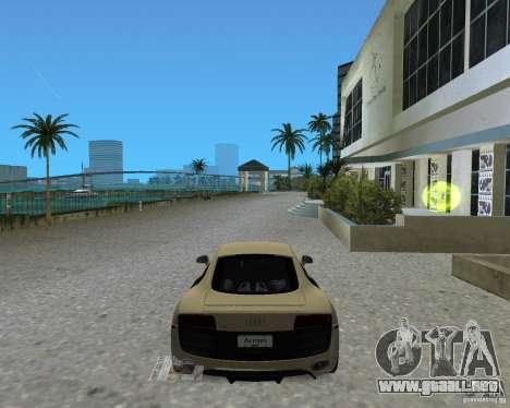 Audi R8 5.2 Fsi para GTA Vice City vista lateral izquierdo