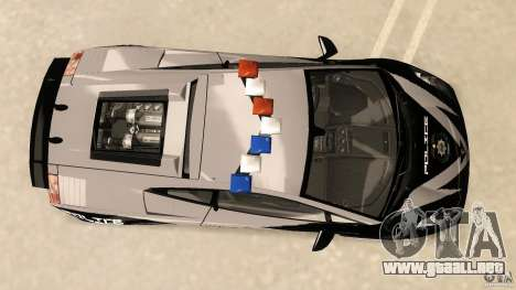 Lamborghini Gallardo Police para GTA Vice City visión correcta