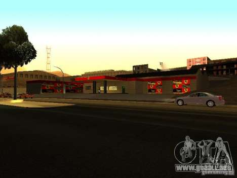 El garaje de Ferrari en Dorothy para GTA San Andreas