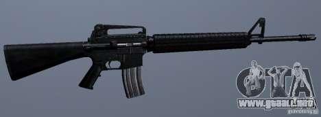 M16A4 para GTA San Andreas sucesivamente de pantalla