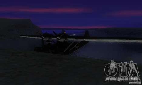 PBY Catalina para la visión correcta GTA San Andreas