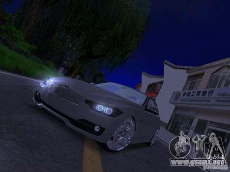 BMW 335i F30 Coupe para GTA San Andreas vista hacia atrás