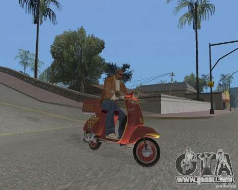 Vespa N-50 Pizzaboy para la visión correcta GTA San Andreas