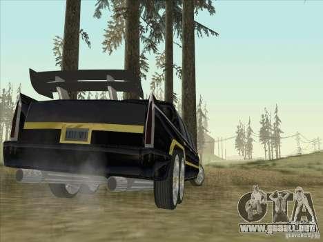 Limousine para GTA San Andreas vista posterior izquierda
