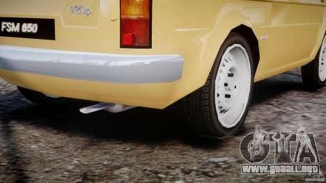 Fiat 126p 1976 para GTA 4 vista superior