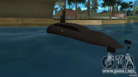 Vice City Submarine without face para GTA Vice City vista lateral izquierdo