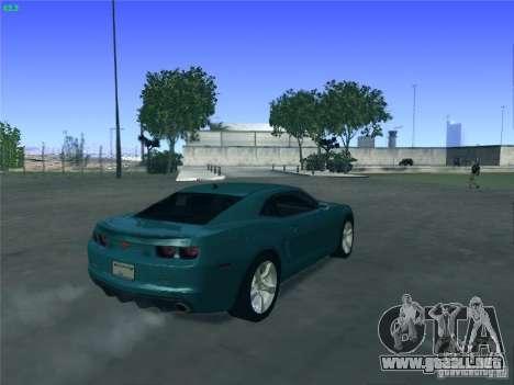 Chevrolet Camaro SS para vista lateral GTA San Andreas