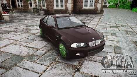 BMW M3 e46 2005 para GTA 4 vista hacia atrás