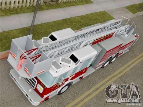 Pierce Aerials Platform. SFFD Ladder 15 para visión interna GTA San Andreas
