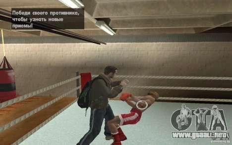 El sistema de combate de GTA IV V 3.0 para GTA San Andreas tercera pantalla