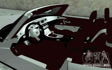 BMW Z8 para visión interna GTA San Andreas