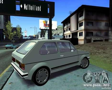 Volkswagen Golf MK 1 GTI para GTA San Andreas vista posterior izquierda