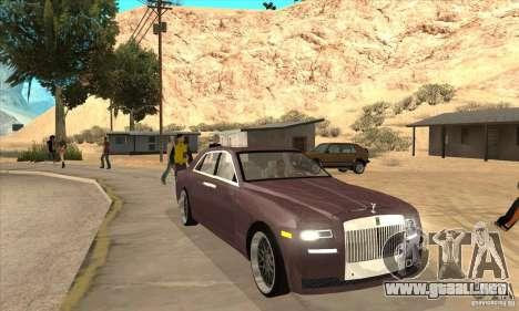Rolls-Royce Ghost 2010 para GTA San Andreas vista hacia atrás