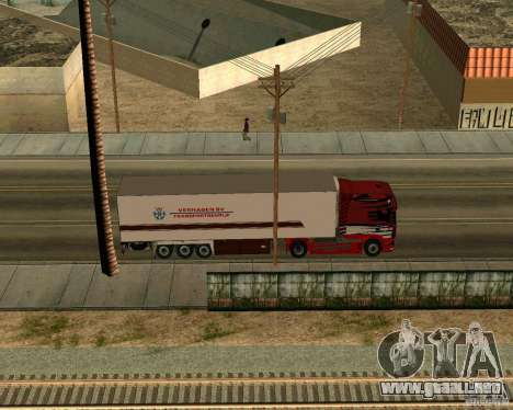 Scania TopLine para GTA San Andreas vista hacia atrás