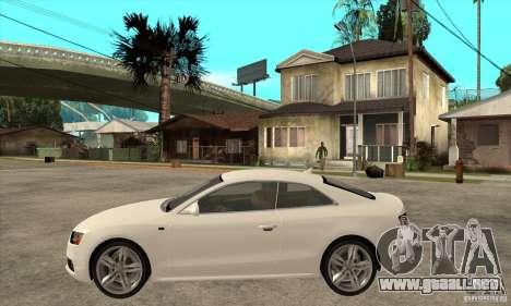 Audi S5 2008 para GTA San Andreas left