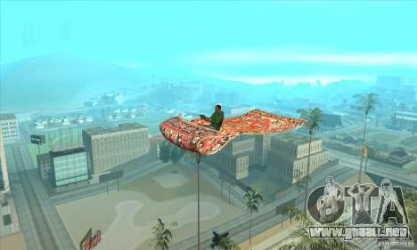 Flying Carpet v.1.1 para GTA San Andreas vista posterior izquierda