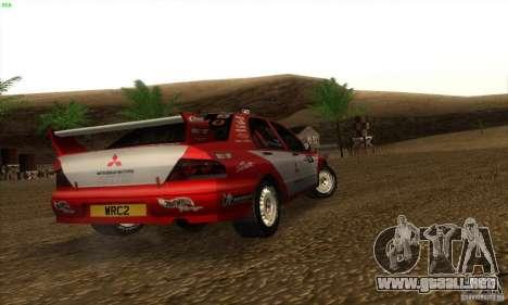 Mitsubishi Lancer Evolution VII para GTA San Andreas vista posterior izquierda