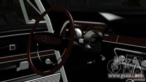 Shelby GT500 1969 para la visión correcta GTA San Andreas