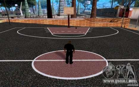 La nueva cancha de baloncesto para GTA San Andreas sucesivamente de pantalla