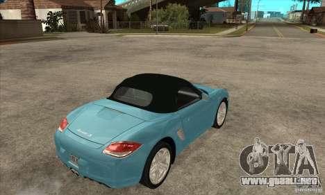 Porsche Boxster S 2010 para la visión correcta GTA San Andreas