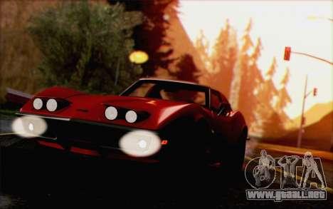 Chevrolet Corvette C3 Stingray T-Top 1969 para GTA San Andreas vista hacia atrás