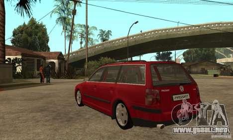 VW Passat B5+ Variant para GTA San Andreas vista posterior izquierda