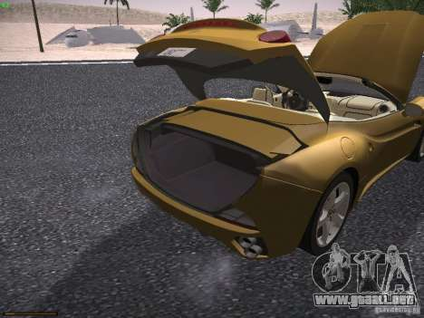 Ferrari California para vista lateral GTA San Andreas