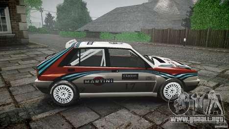 Lancia Delta Integrale Martini 1992 para GTA 4 vista interior