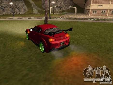 Mazda RX-8 R3 Tuned 2011 para el motor de GTA San Andreas