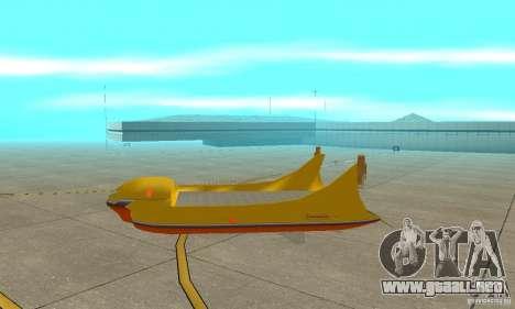 Plataforma aérea Air Carrier para GTA San Andreas vista posterior izquierda