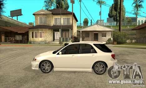 Subaru Impreza WRX Wagon 2002 para GTA San Andreas left