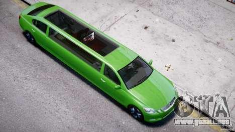 Lexus GS450 2006 Limousine para GTA 4 vista desde abajo