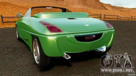Daewoo Joyster Concept 1997 para GTA 4 Vista posterior izquierda