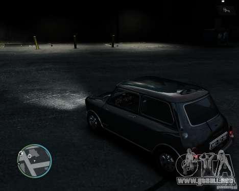Austin Mini Cooper S para GTA 4 vista hacia atrás