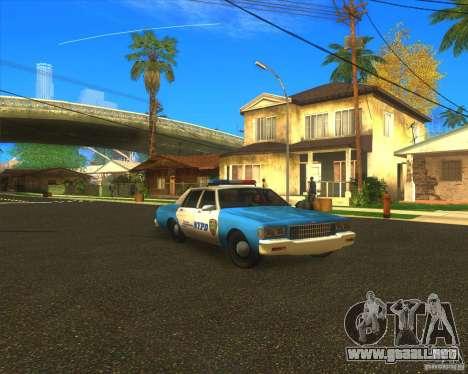Chevrolet Caprice Classic 1986 NYPD para GTA San Andreas vista hacia atrás