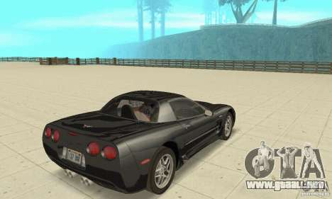 Chevrolet Corvette 5 para GTA San Andreas left