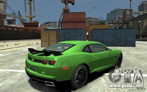 Chevrolet Camaro 2010 Synergy Edition v1.3 para GTA 4 visión correcta