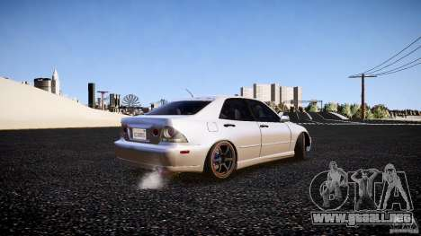 Lexus IS300 para GTA 4 Vista posterior izquierda